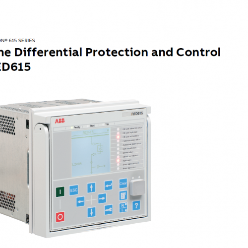 Line Differential Protection and Control RED615 IEC